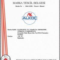 Alkoc Marka Tescil Belgesi